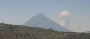 San Taquito volcano behind Santa Maria